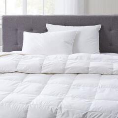 Natural Filled Comforter, WHITE