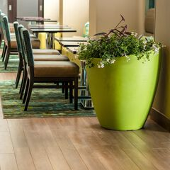 """Modesto 30"""" Round Planter, GREEN"""