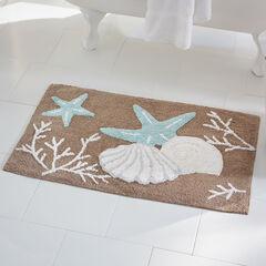 Coastal Shell Bath Mat,