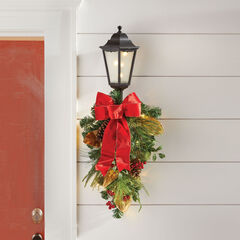 Winterberry Lantern with Swag,