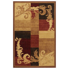 "Catalina Rug, 5'3""x7'2"", BROWN RED"