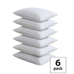 Fresh Ideas 6-Pack 100% Cotton Pillow Protectors, WHITE