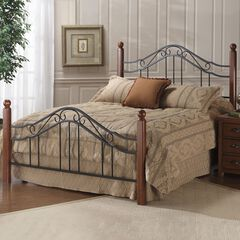 "Queen Bed with Bed Frame, 83½""Lx60¼""Wx50½""H,"
