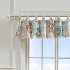 Key West Seafoam Window Valance by Greenland Home Fashions, SEAFOAM