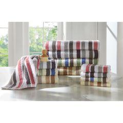 Super Soft Stripe Towel Collection, KHAKI STRIPE