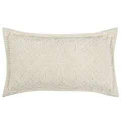 Ashton Collection Tufted Chenille Sham by Better Trends, IVORY