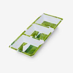 Banana Leaf 3-Section Tray,