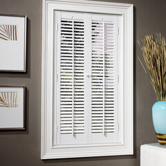 "1¼"" Traditional Faux Wood Interior Shutter, WHITE"