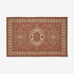 "Carmel Indoor/Outdoor Kilim Rug 4'10"" x 7'6"", RED"