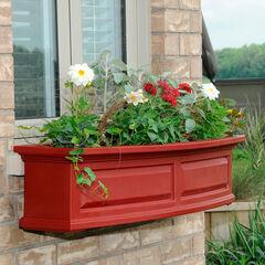 Mayne® Nantucket 4' Window Box, RED
