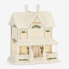Lenox® Holiday Village Victorian House Light-Up Figurine, WHITE