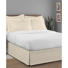 """Luxury Hotel Classic Tailored 14"""" Drop Ivory Bed Skirt, IVORY"""