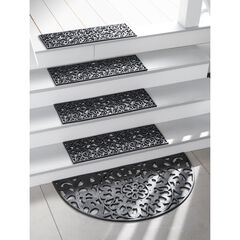 Recycled Rubber Stair Treads, Set of 4, BLACK
