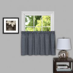 Sydney Window Curtain Tier Pair, GREY
