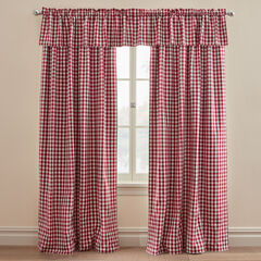 Gingham Rod-Pocket Valance ,