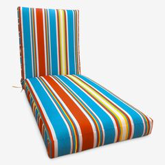 "84"" Chaise Cushion, RED BLUE STRIPE"