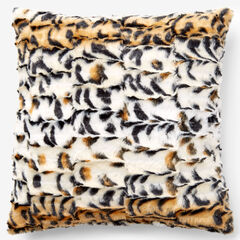 Animal Print Faux Fur Pillow Covers, OCELOT PRINT