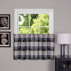 Harvard Window Curtain Tier Pair, BLACK