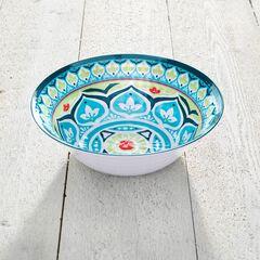 Blue Casab Round Serving Bowl, MULTI