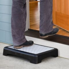 Non-Slip Outdoor Step, BLACK MATTE