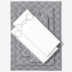 Nolita 6-Pc. Microfiber Sheet Set, GRAY TRELLIS