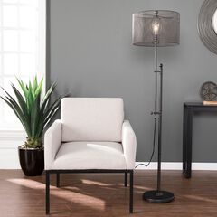 Zylen Floor Lamp, GUNMETAL