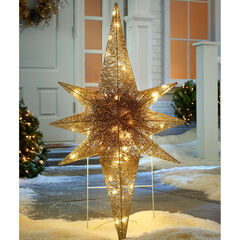 "36"" LED Glitter Bethlehem Star, GOLD"