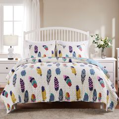 Dream Catcher Quilt Set by Greenland Home Fashions, TEAL