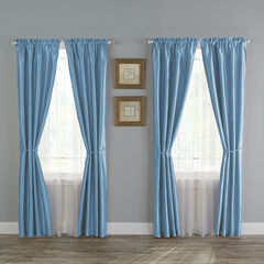 12-Pc. Faux Silk Window Set, BLUE