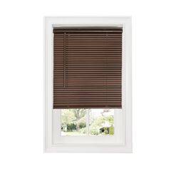 "Cordless GII Deluxe Sundown 1"" Room Darkening Mini Blind, MAHOGANY"