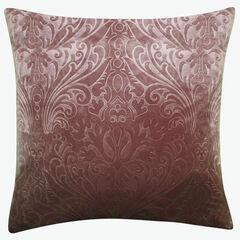 Embossed Panne Velvet Decorative Pillow, THISTLE