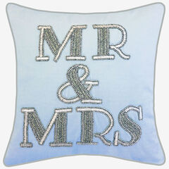 "Beaded ""Mr & Mrs"", BLUE"