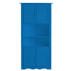Cottage Kitchen Corner Cabinet, LAPIS BLUE