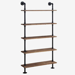 Anacortes Five Shelf Piping, BLACK