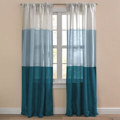 Triad Faux Silk Rod-Pocket/Back-Tab Panel, DARK TEAL