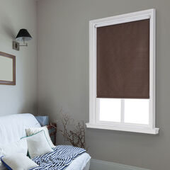 Cut-to-Width Spring Vinyl Roller Shade, CHOCOLATE