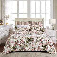 Butterflies Quilt Set by Greenland Home Fashions, OFF WHITE
