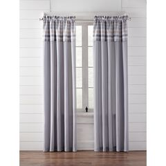 Farm Hill Rod-Pocket with Attached Valance, LIGHT GRAY
