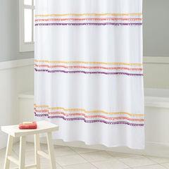 BrylaneHome® Studio PomPom Shower Curtain,