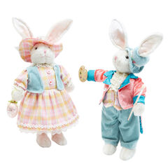 Rabbit Boy & Girl, Set of 2,