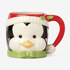 "Lenox® Hosting The Holidays""¢ Figural Mugs, PENGUIN"
