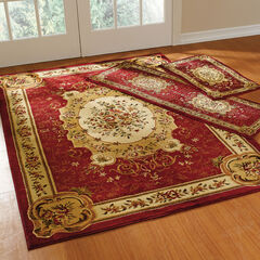 Floral 3-Pc. Rug Set with Runner, RED