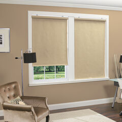 Cordless Linen Look Thermal Fabric Roller Shade,