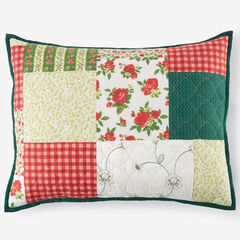 Salem Harvest Sham, RED GREEN MULTI