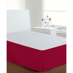 "Luxury Hotel Classic Tailored 14"" Drop Red Bed Skirt, RED"