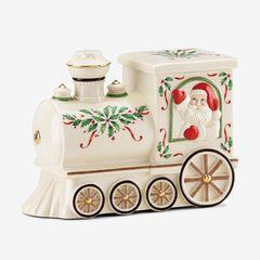 """Lenox® Hosting The Holidays""""¢ Santa Train Cookie Jar, MULTI"""