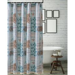 Key West Seafoam Shower Curtain by Greenland Home Fashions, SEAFOAM