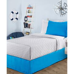 "Luxury Hotel Kids Tailored 14"" Drop Blue Bed Skirt, MEDIUM BLUE"