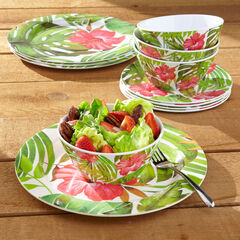 Hibiscus 12-Pc. Dinnerware Set,