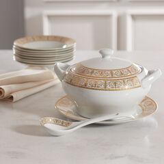 Medici 4-Pc. Porcelain Soup Tureen Set,